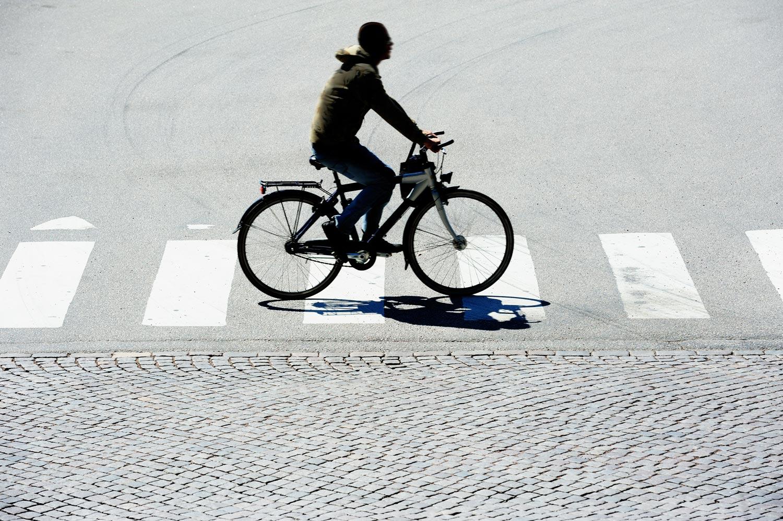fietser op het fietspad